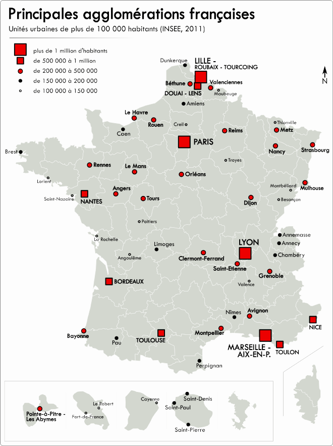 carte agglomerations