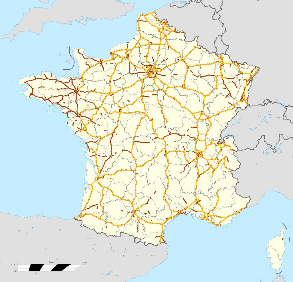 carte autoroutes