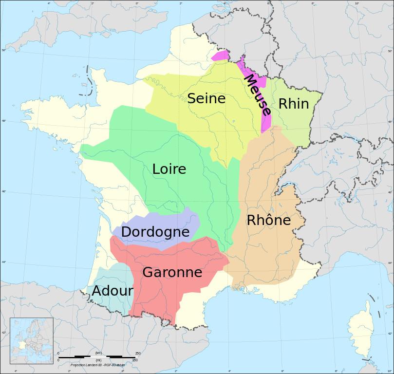carte bassins versants