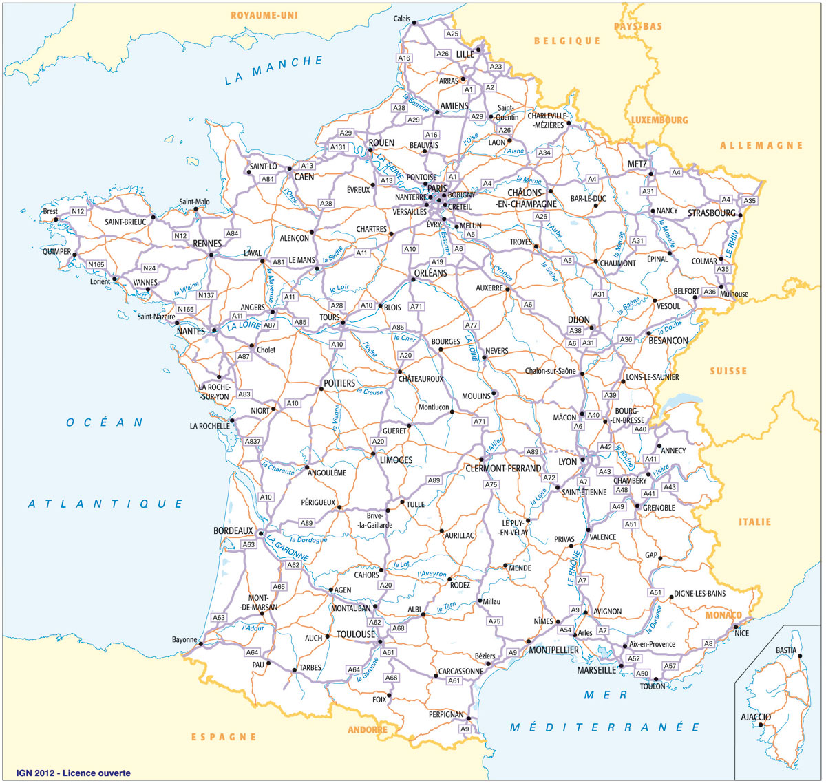 carte routes