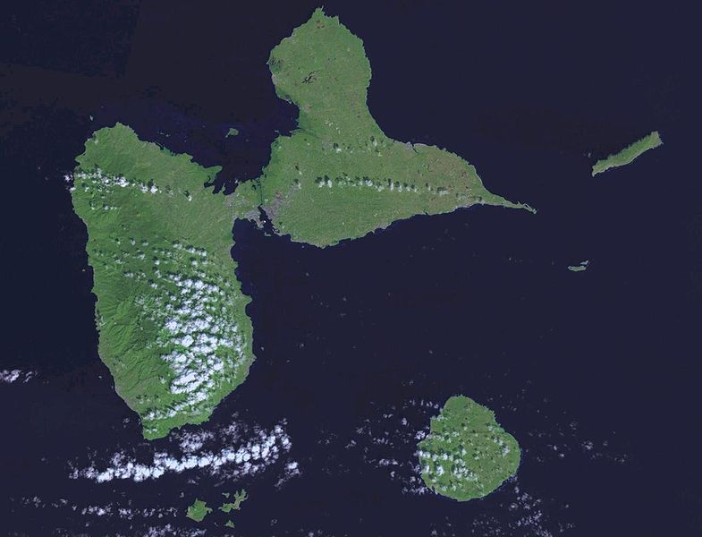 carte satellite guadeloupe