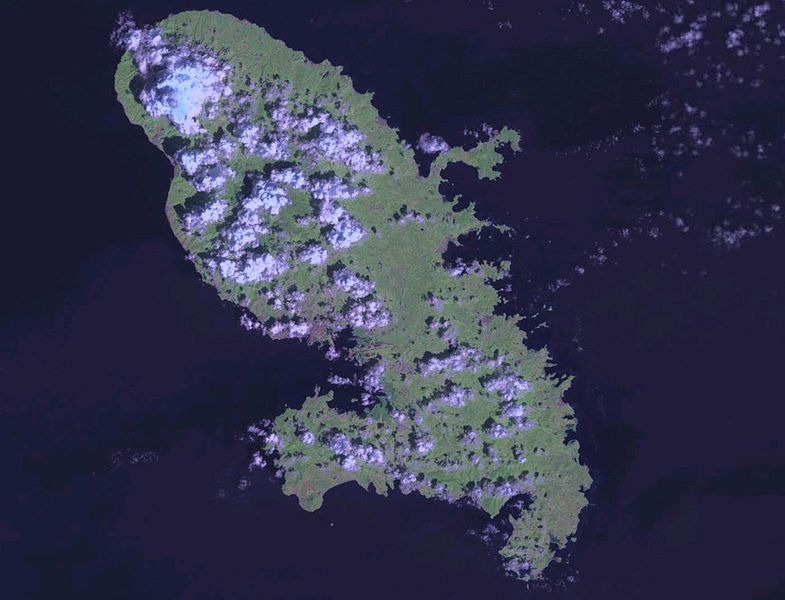 carte satellite martinique
