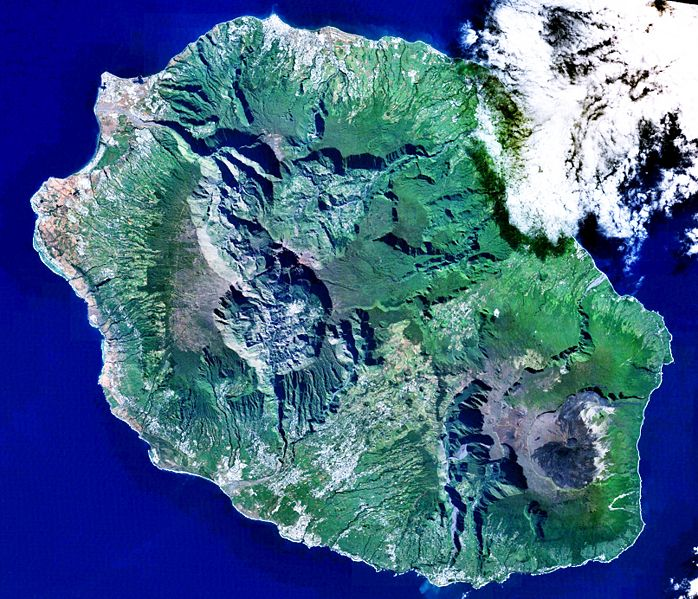 carte satellite La Réunion