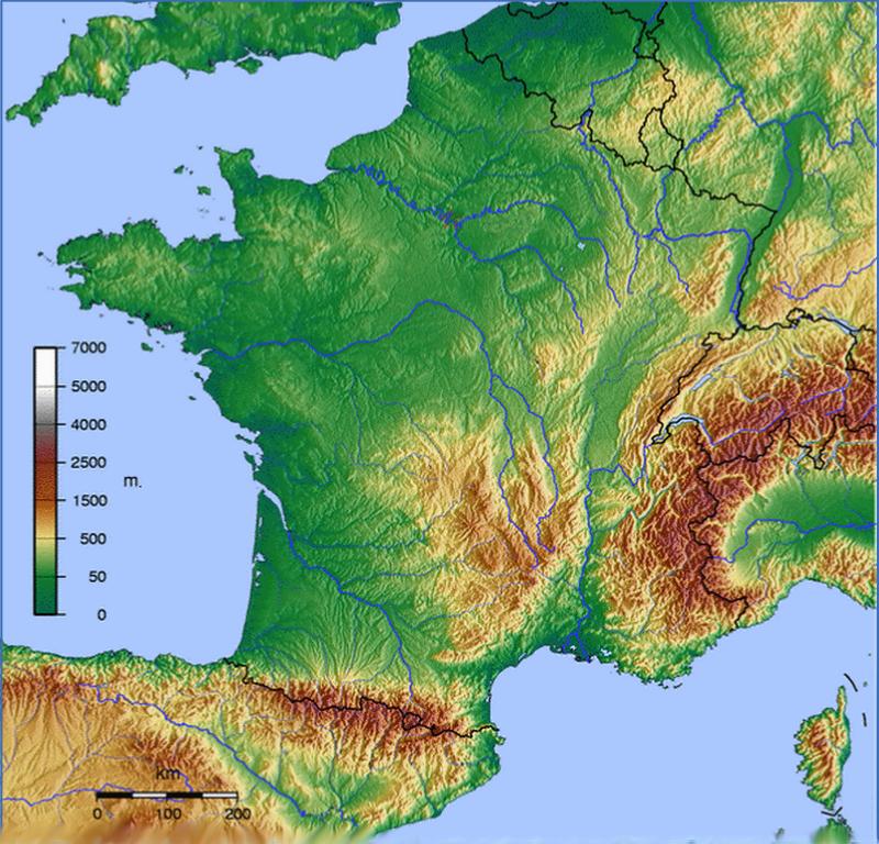 carte montagnes france