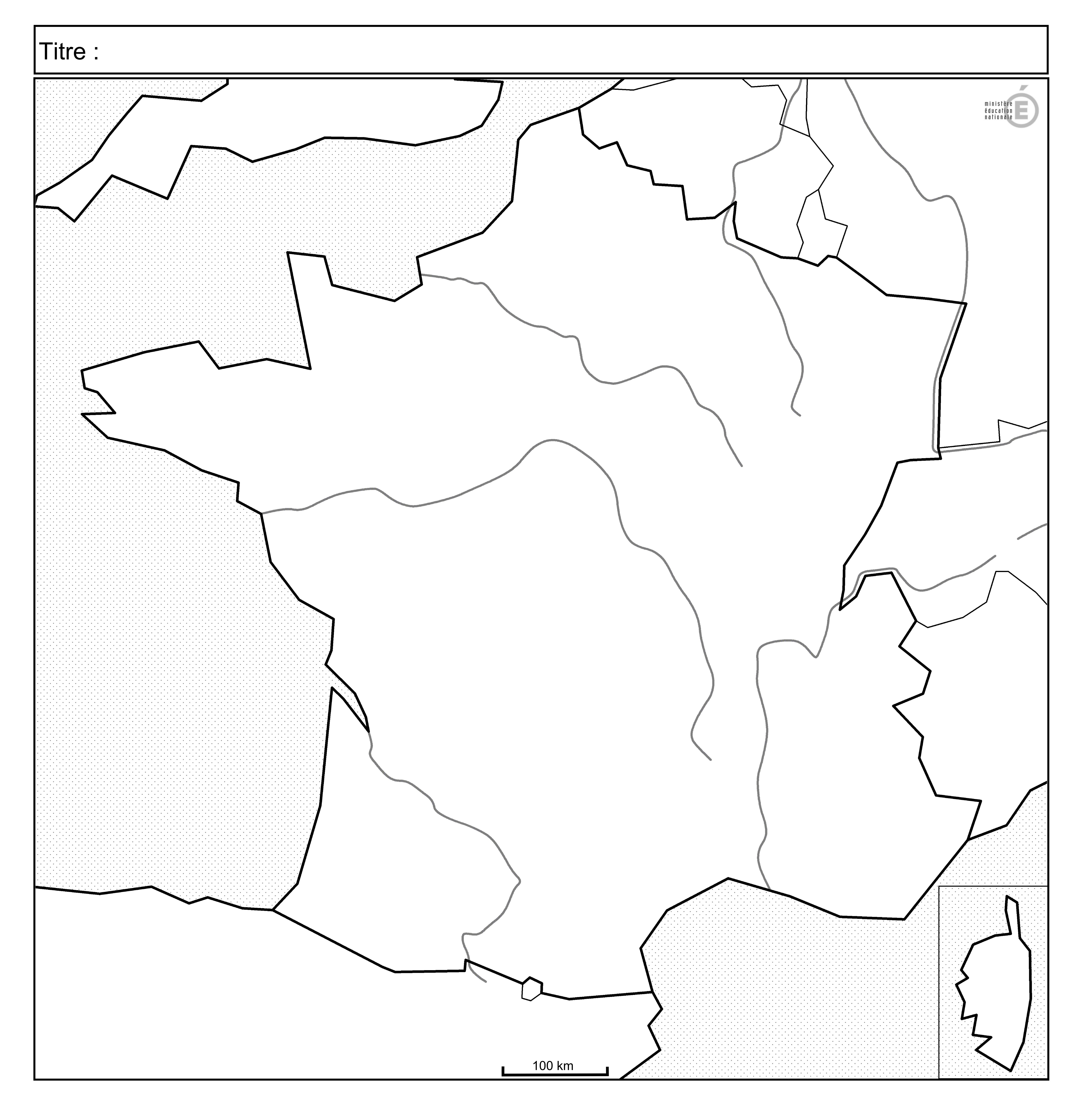 Fonds de cartes du relief de France et Quiz