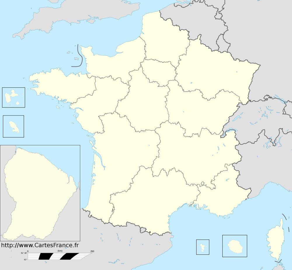 fond carte regions