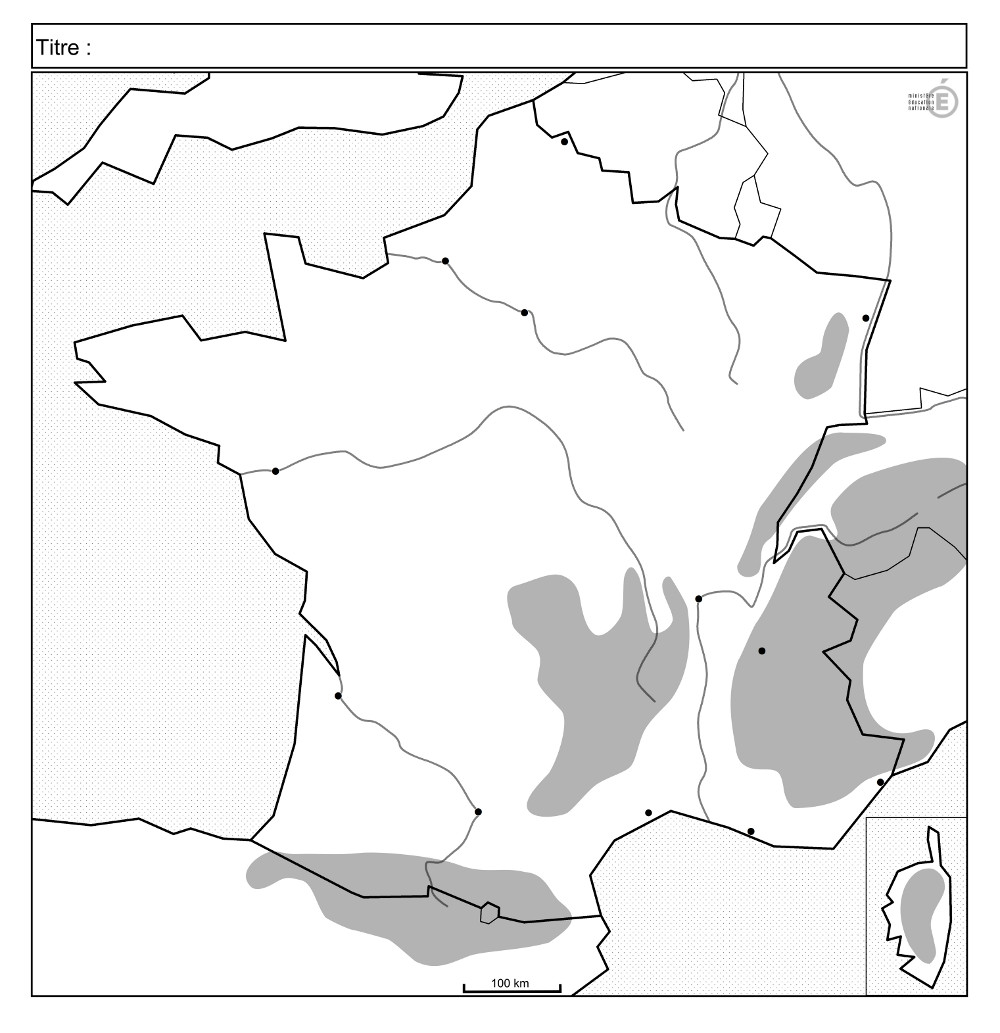 fond carte massifs fleuves