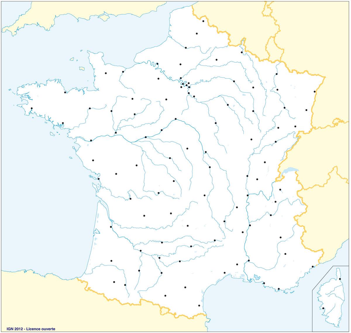 fond carte villes france