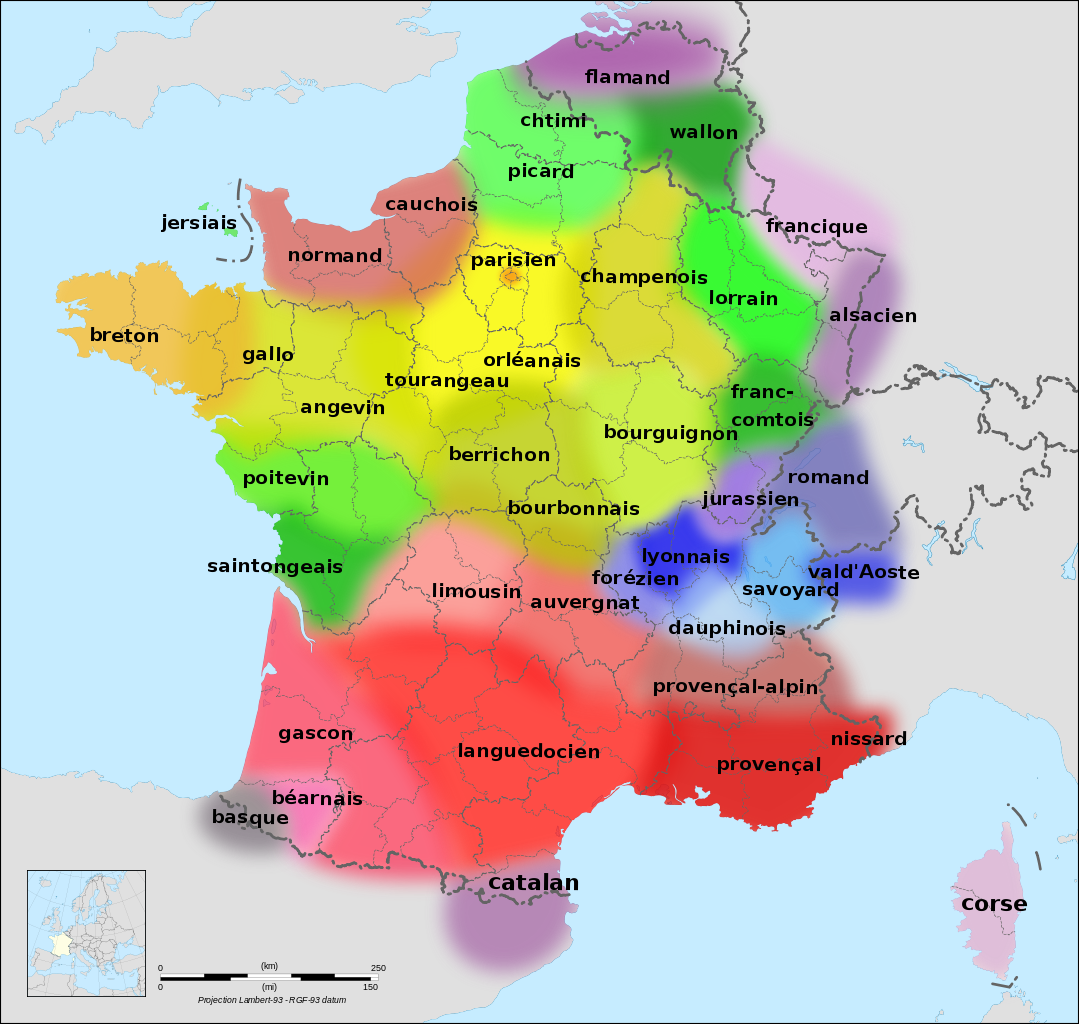 carte langues regionales