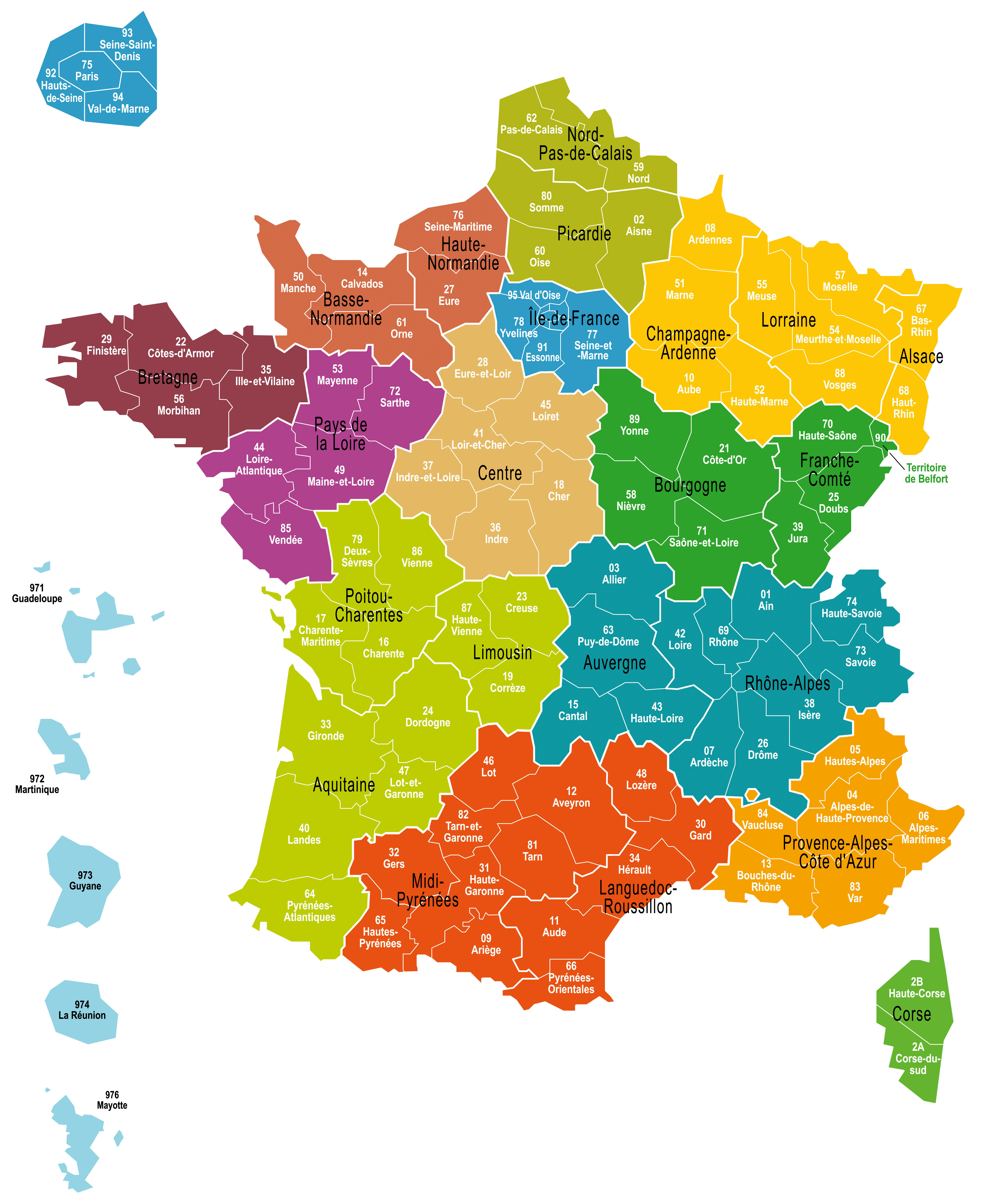 Carte france et quiz - Carte de france murale ...