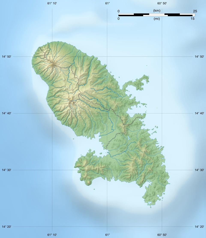 fond carte relief Martinique