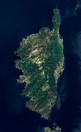 carte satellite corse