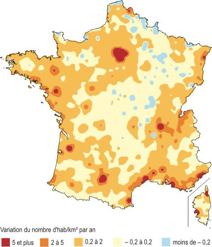 variation densite population